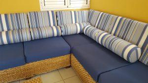 sofá de exterior confecciónado