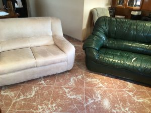 sillones antes y despues